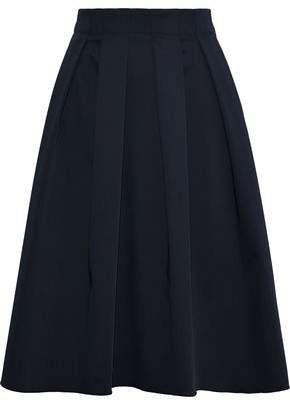 Pleated Woven Skirt