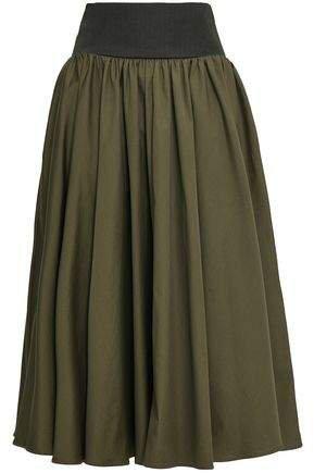 Cotton-poplin Midi Skirt