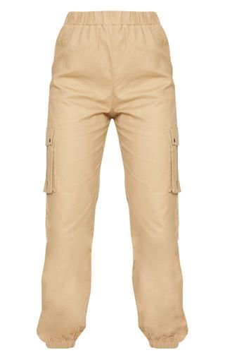 Stone Pocket Detail Cargo Trousers   Trousers   PrettyLittleThing