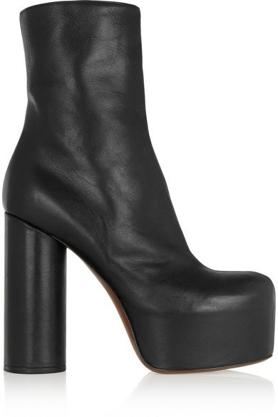 Vetements Black Leather platform boots