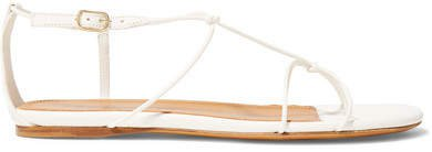 Knotted Leather Sandals - White