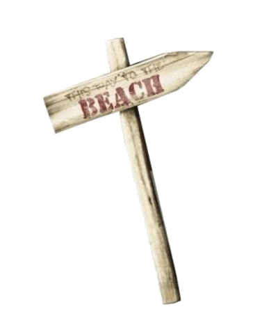 Wooden Beach Sign png