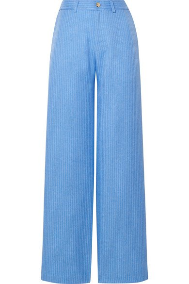 Maggie Marilyn | Go Getter pinstriped woven straight-leg pants | NET-A-PORTER.COM