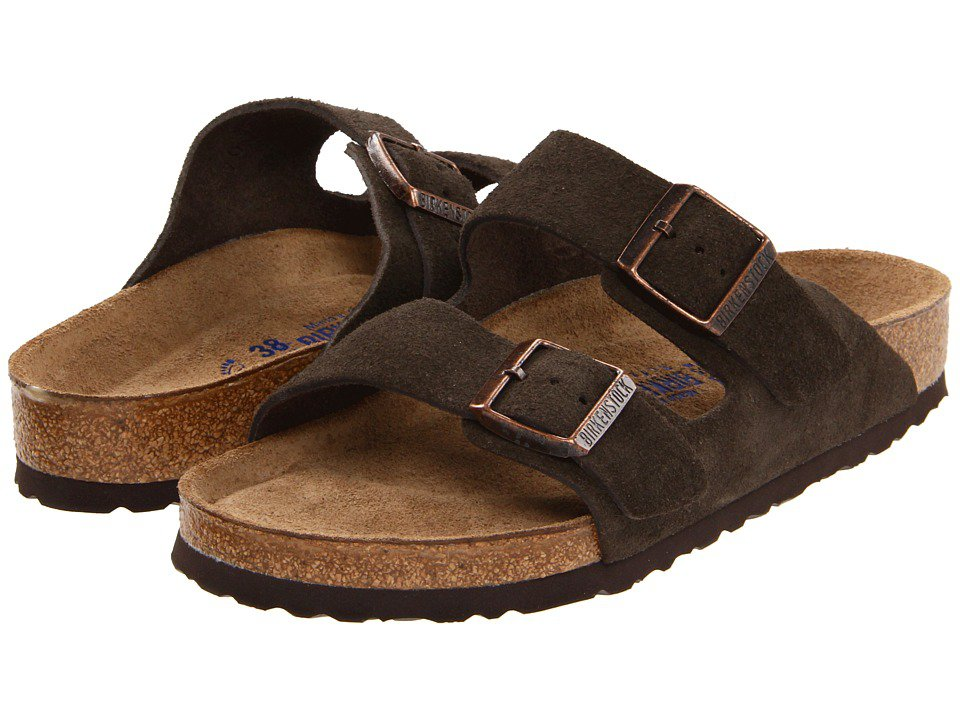 Birkenstock - Arizona Soft Footbed - Suede (Unisex) (Mocha Suede) Sandals