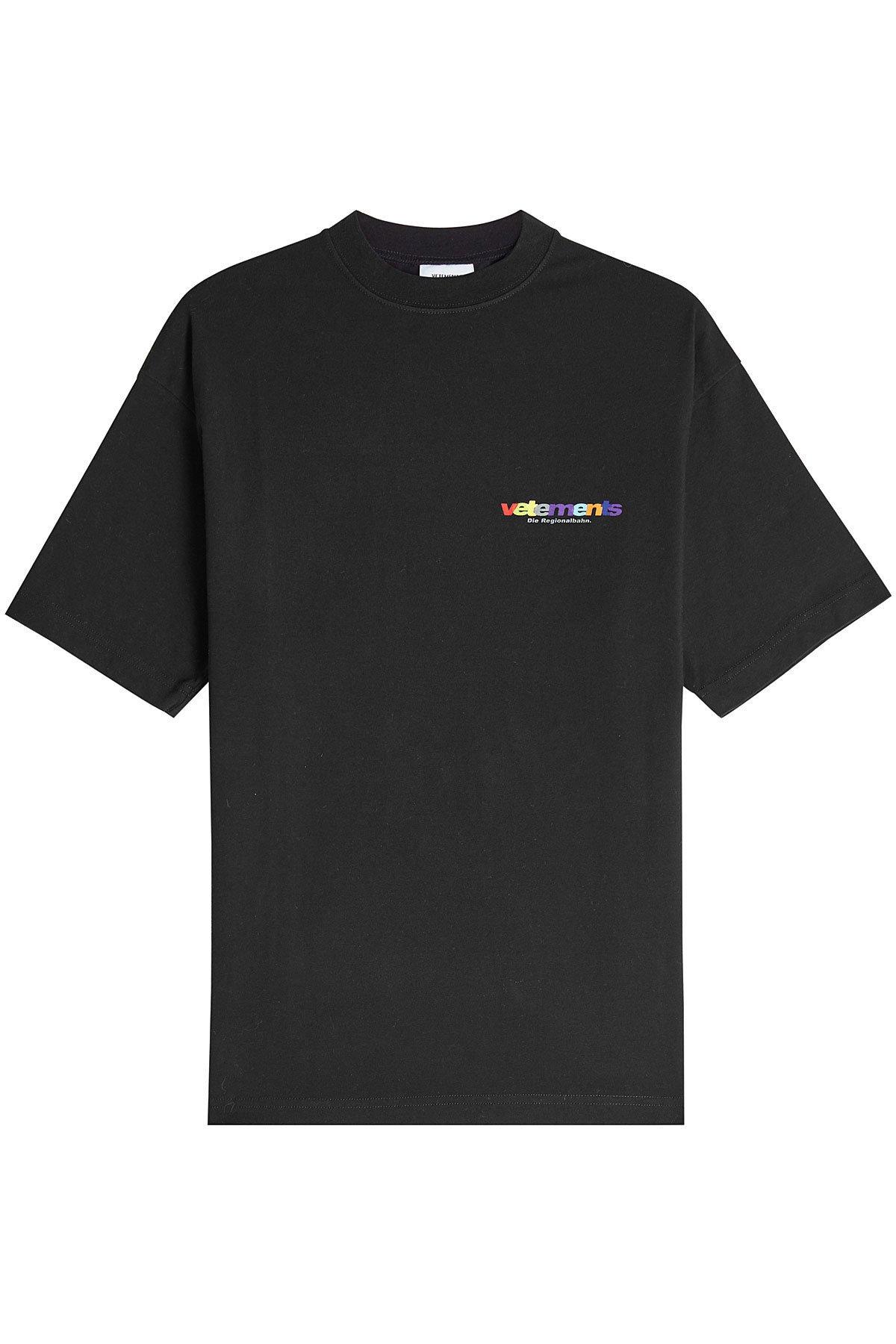 Printed Cotton T-Shirt Gr. M