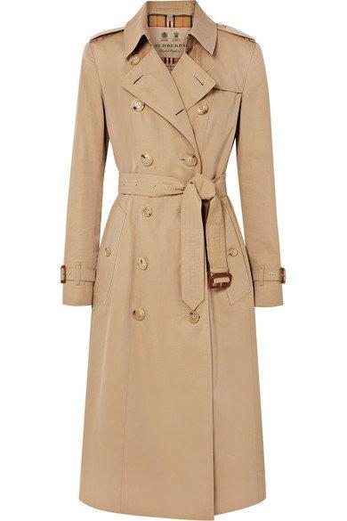 Burberry   The Chelsea Long cotton-gabardine trench coat   NET-A-PORTER.COM