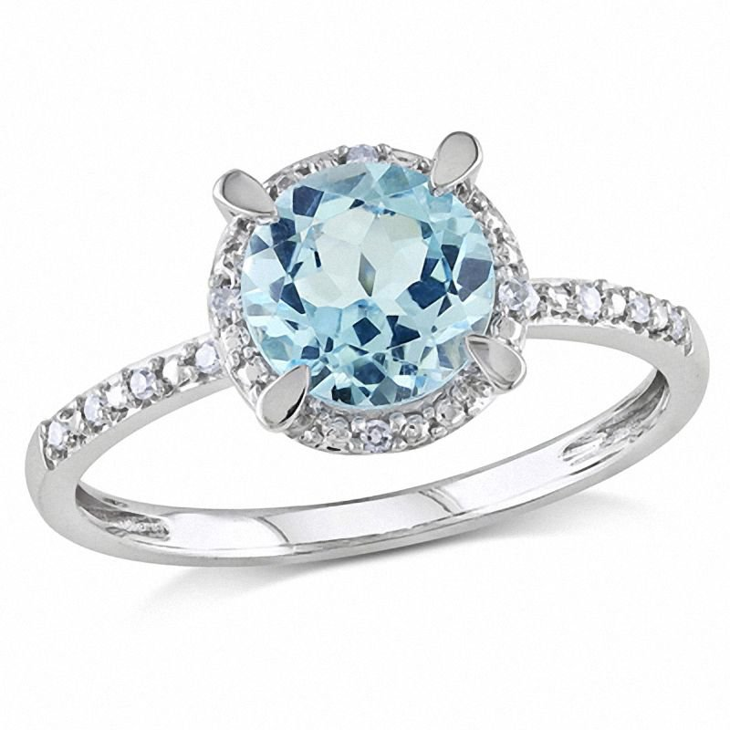 Crystal blue ring
