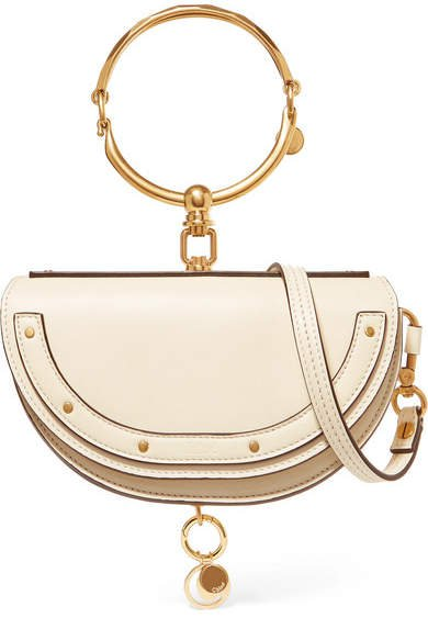 Nile Bracelet Mini Leather Shoulder Bag - Off-white