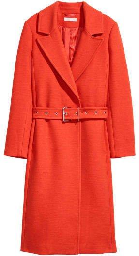 Wool-blend Coat - Orange