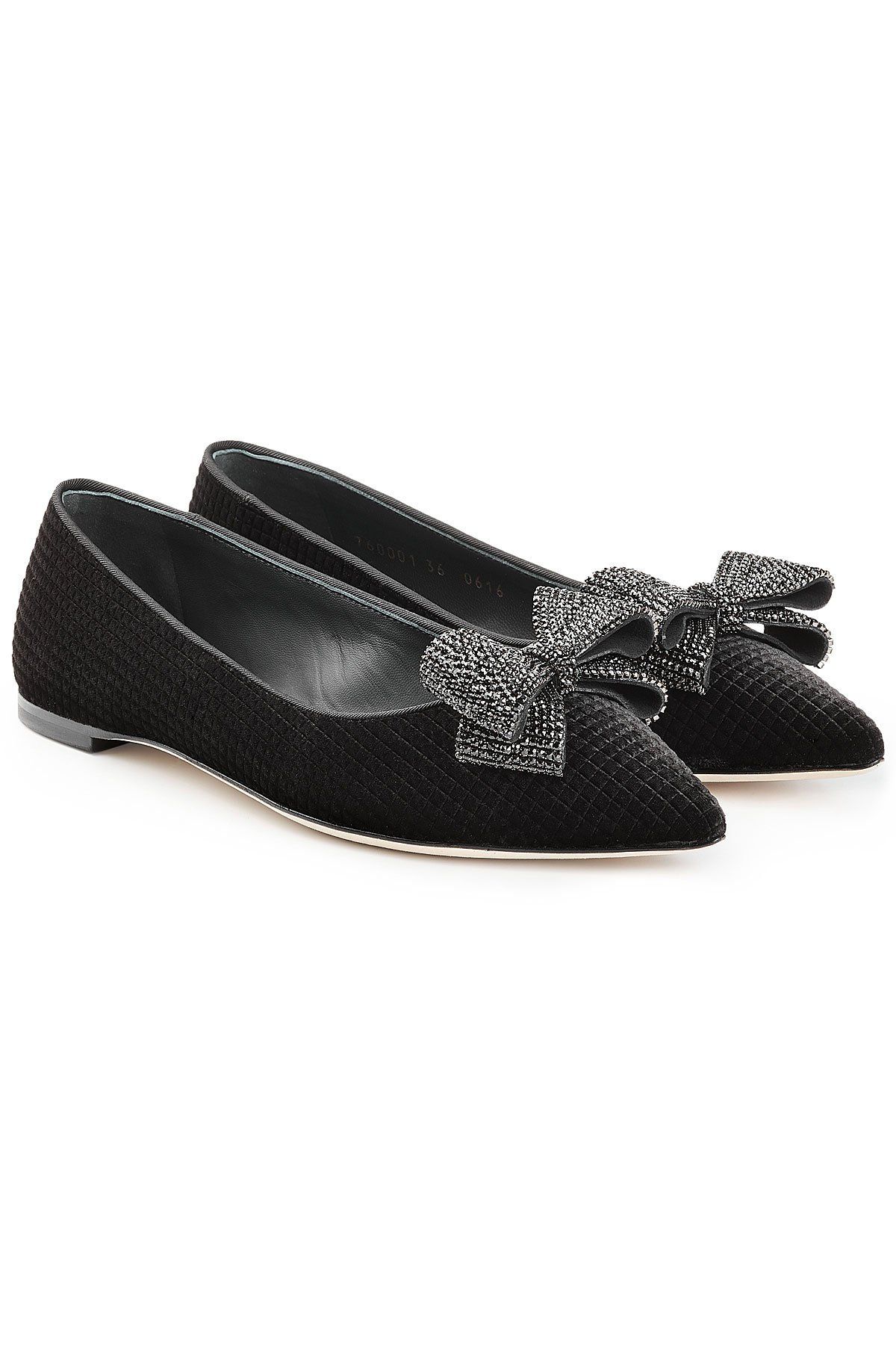 Lulu Velvet Ballerinas with Bows Gr. IT 37