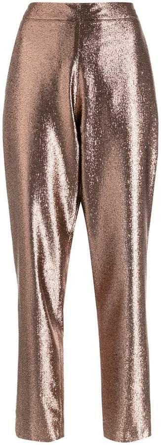 Layeur metallic sheen trousers