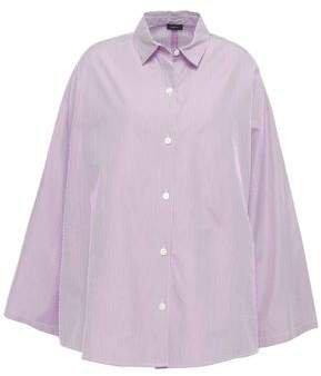 Sino Oversized Striped Cotton-poplin Shirt