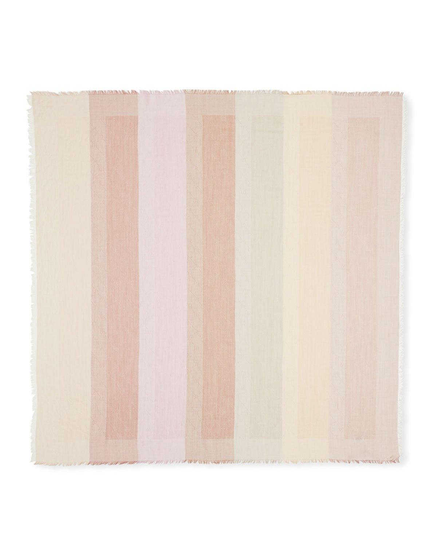 Stella McCartney Ombre Stripe Woven Monogram Scarf