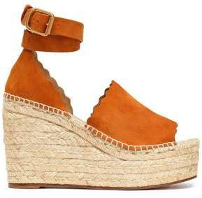 Lauren Suede Espadrille Wedge Sandals