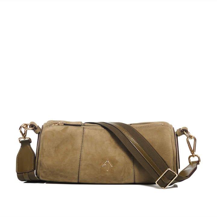 Manu Cylinder Suede Shoulder Bag