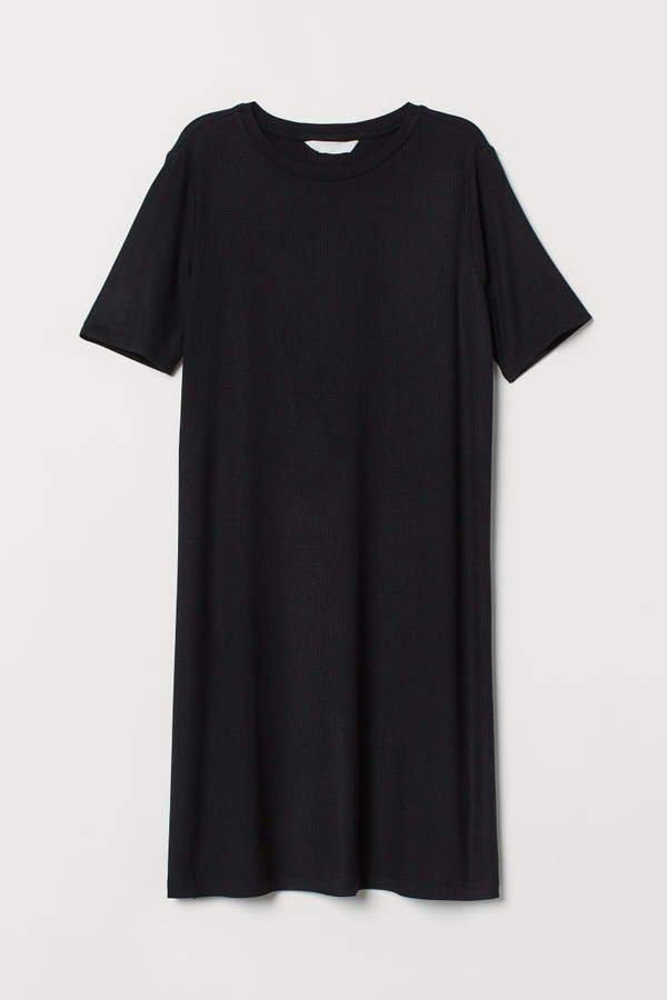 Short T-shirt Dress - Black