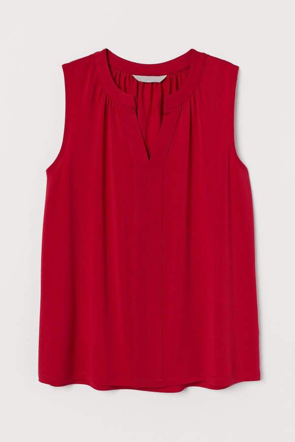 Sleeveless Top - Red