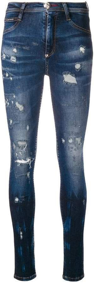 ripped fade skinny jeans