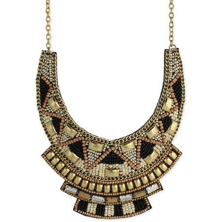 bib necklace black/gold