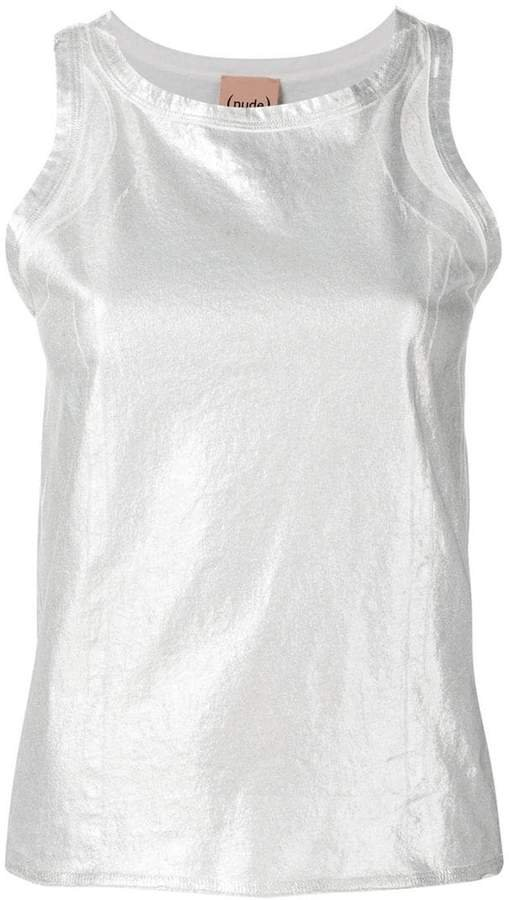 metallized tank top