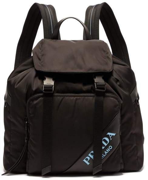 Logo Nylon Backpack - Womens - Black