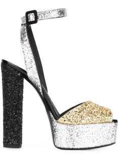 Giuseppe Zanotti Betty platform leather and velvet sandals