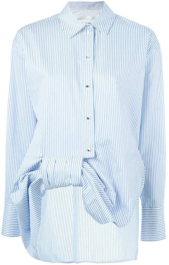 Victoria asymmetric bow shirt