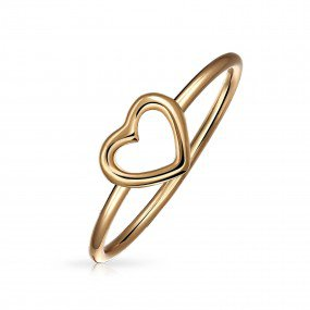 Rosy Heart Ring