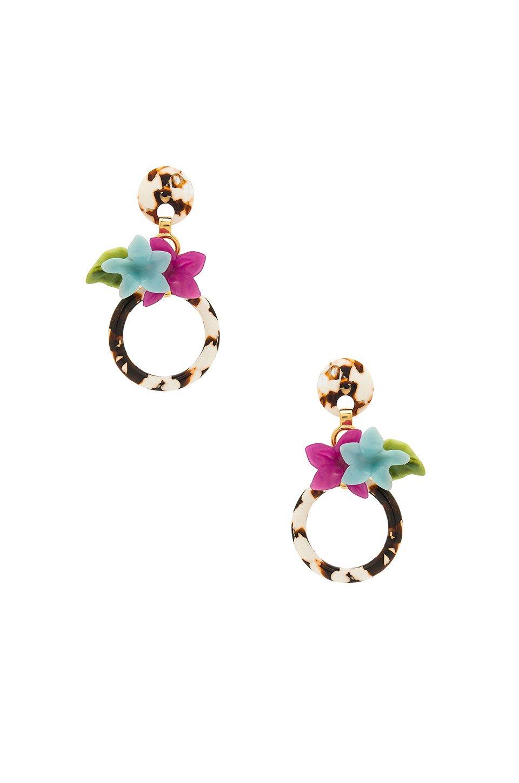 Hibiscus Hoop Earring