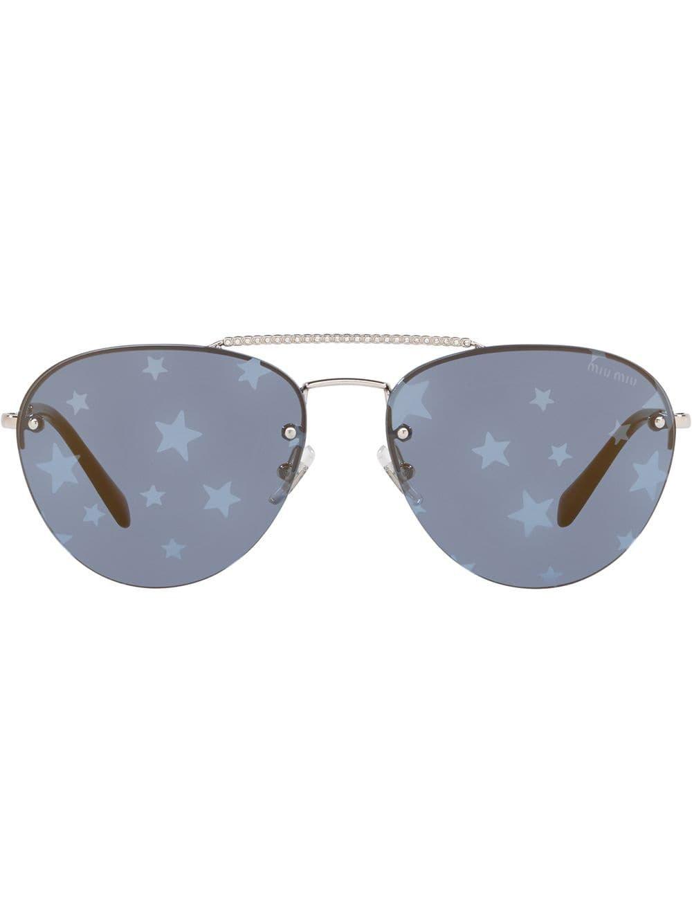 Miu Miu Eyewear Miu Miu Noir Sunglasses - Farfetch