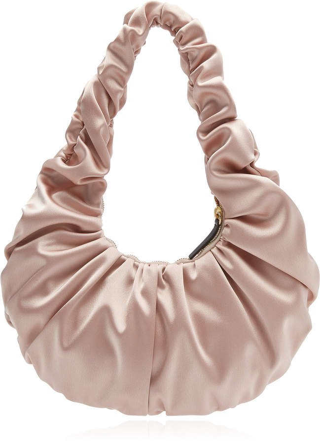 Nanushka Anja Ruched Baguette Shoulder Bag