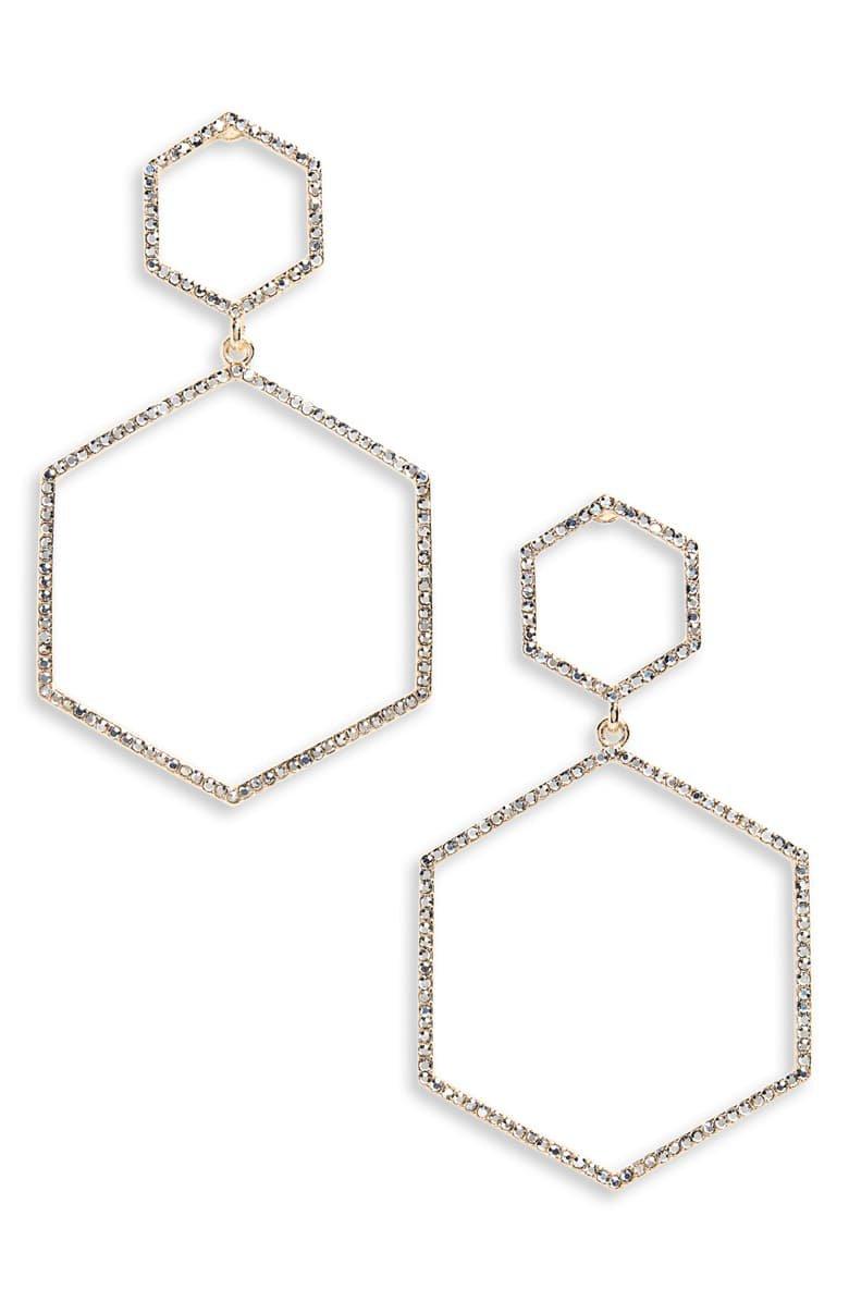 Panacea Crystal Hexagon Earrings | Nordstrom
