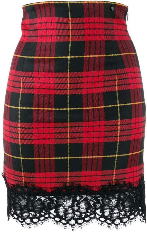 jacquard tartan skirt