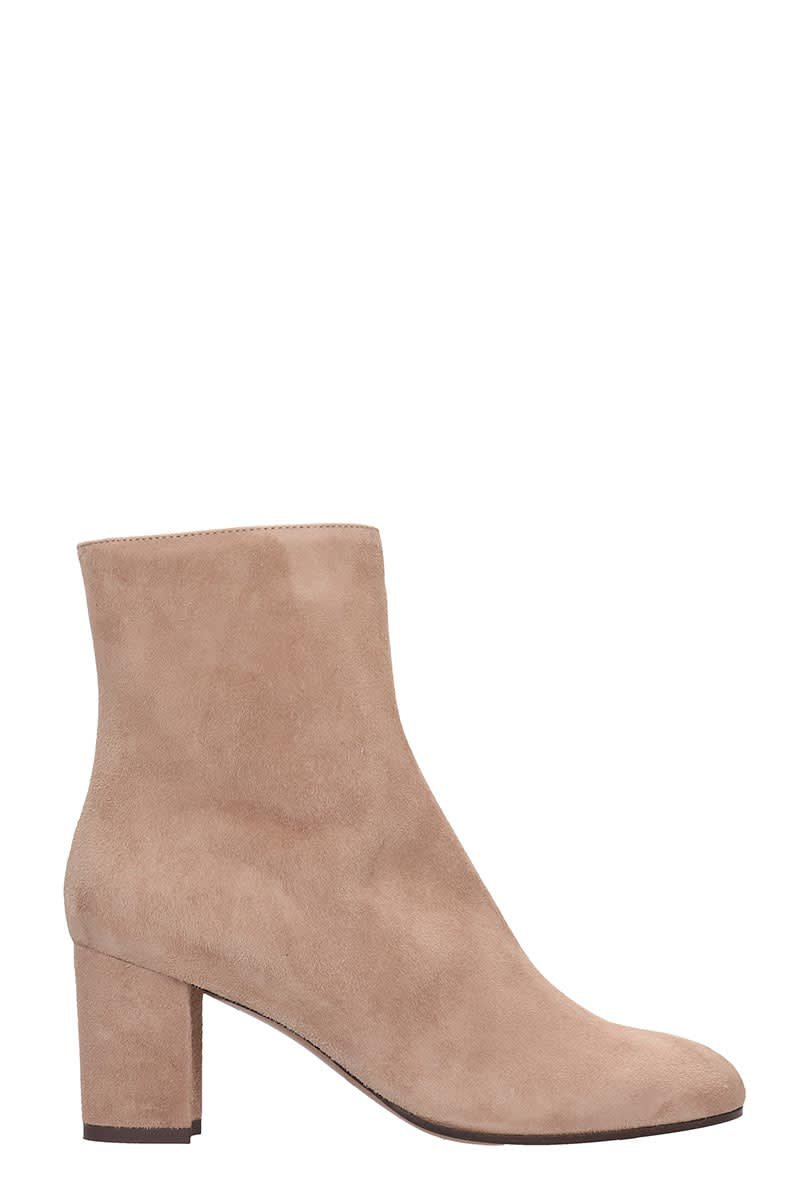 LAutre Chose Ankle Boots In Powder Suede