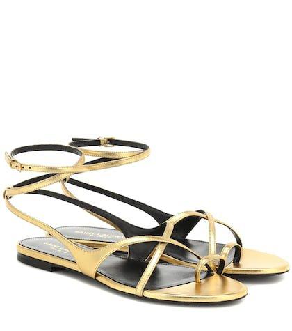 Gia metallic leather sandals