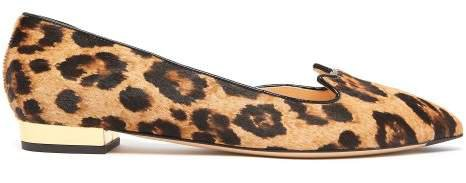 Kitty D'orsay Leopard Print Calf Hair Flats - Womens - Leopard