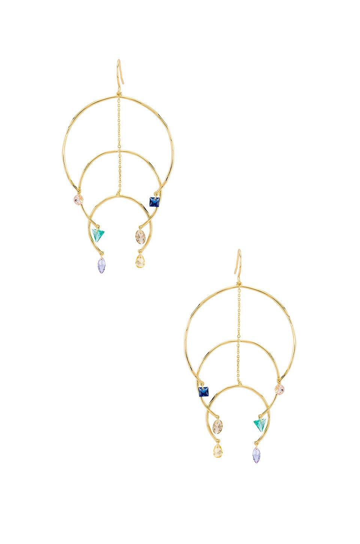 Luca Shimmer Arc Mobile Earrings