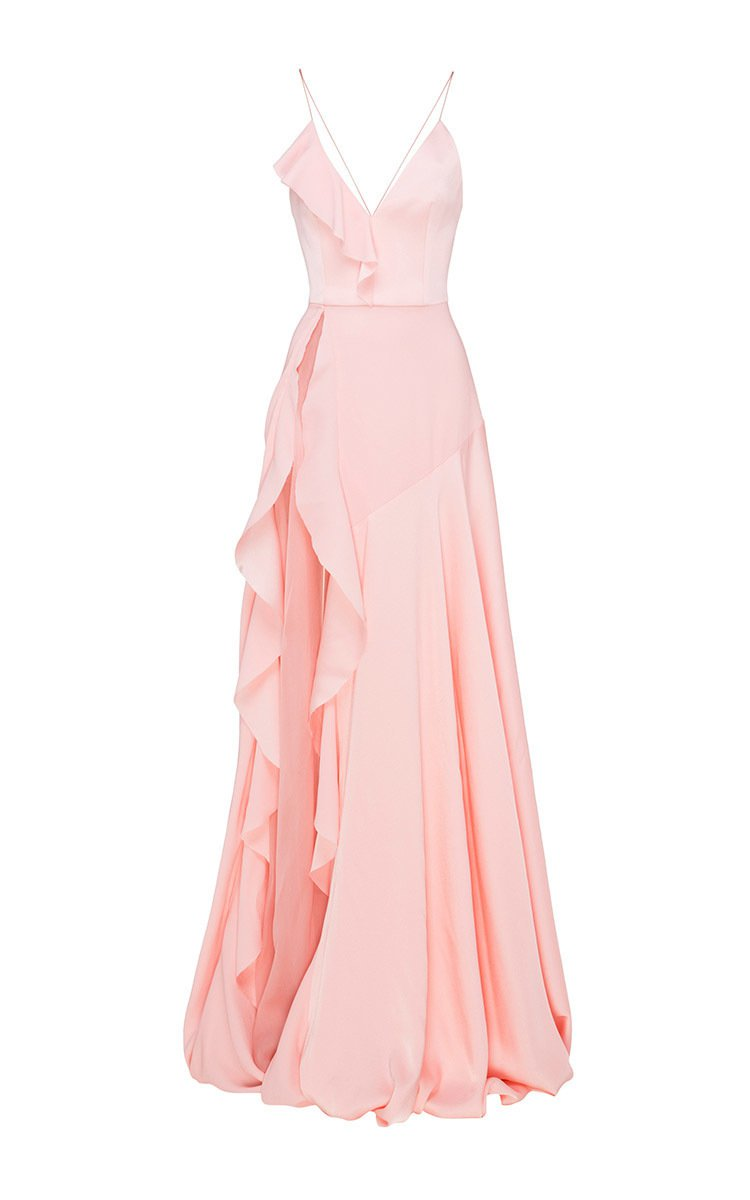 Phoebe Satin Crepe Ruffle Gown by Alex Perry