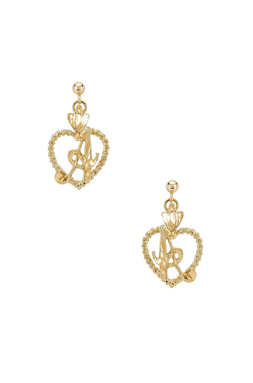 The Sweetheart A Initial Earrings