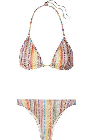 Missoni   Mare metallic crochet-knit triangle bikini   NET-A-PORTER.COM