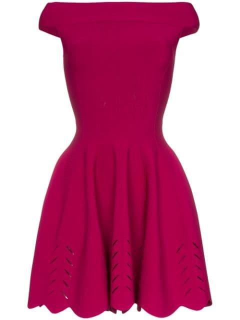 Alexander McQueen off-the-shoulder Mini Dress - Farfetch