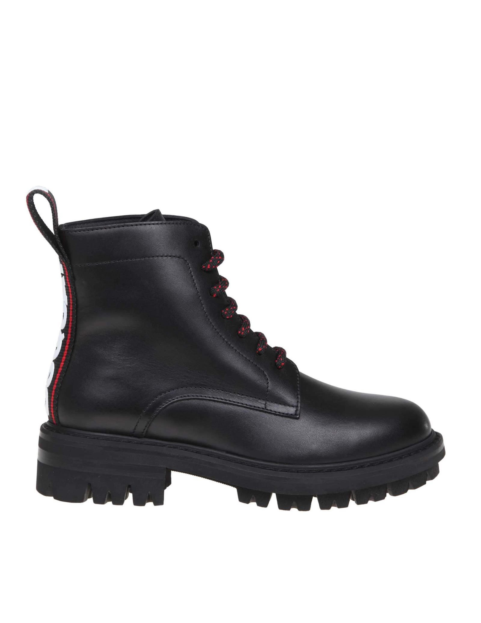 Dsquared2 Anfibio In Leather Color Black