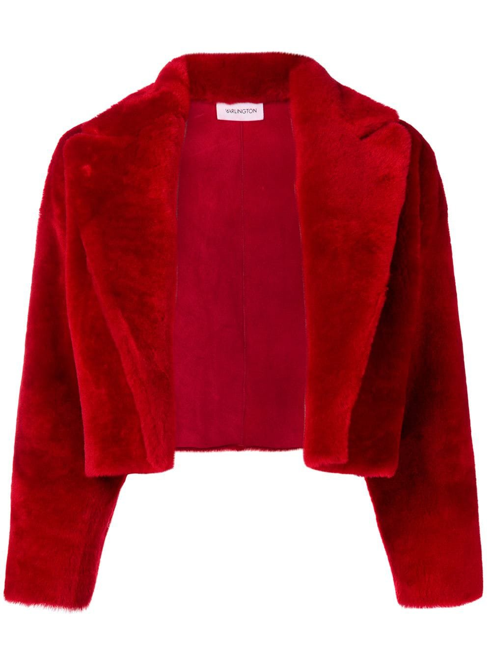 Red 16Arlington Cropped Fur Jacket | Farfetch.com