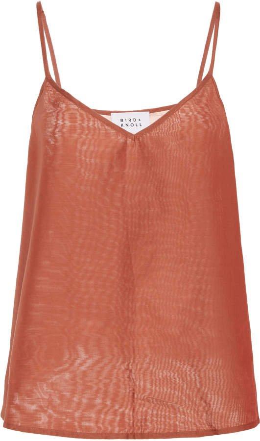 Bird & Knoll Lila Cotton Silk Cami Top