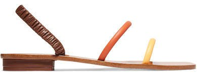 Mona Leather Sandals - Brown