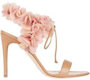 Pvc-trimmed Leather Sandals