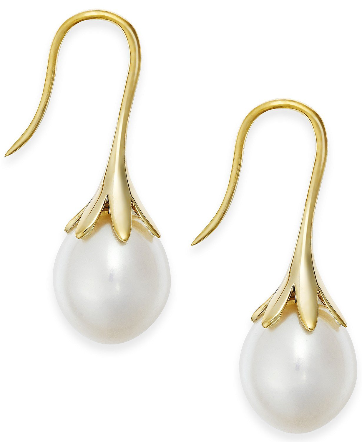Macy's 14k Gold Cultured Freshwater Pearl Drop Earrings