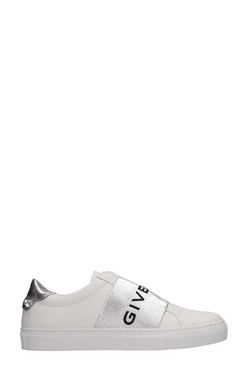 Givenchy Urban Street White Silver Leather Sneakers