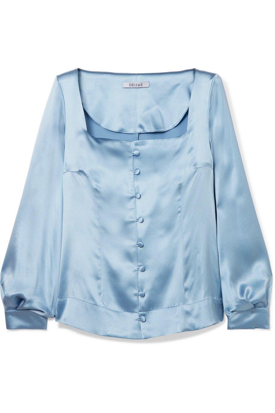 Deitas   Gaia silk-satin blouse   NET-A-PORTER.COM