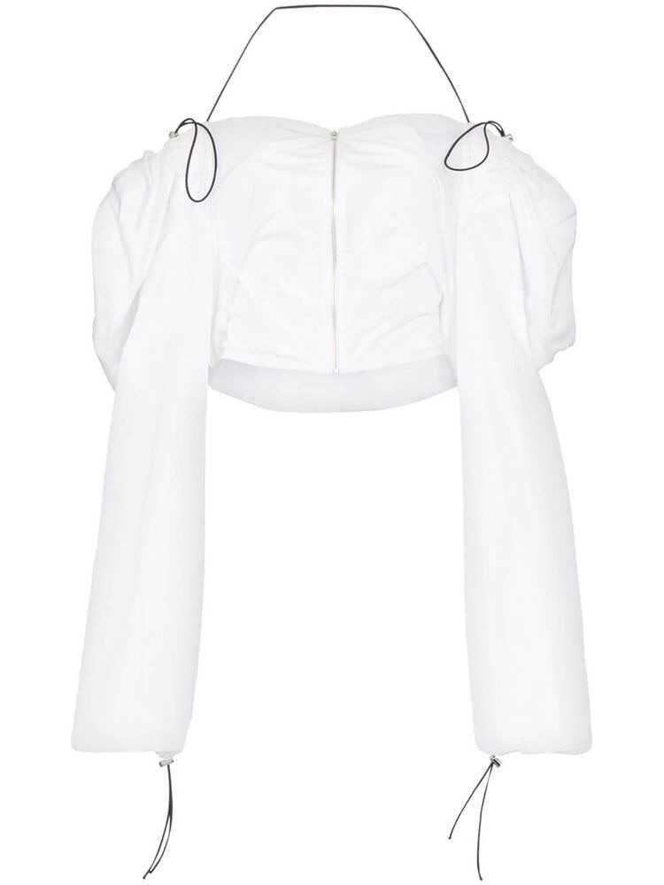 Supriya Lele Draped tracksuit jacket - White